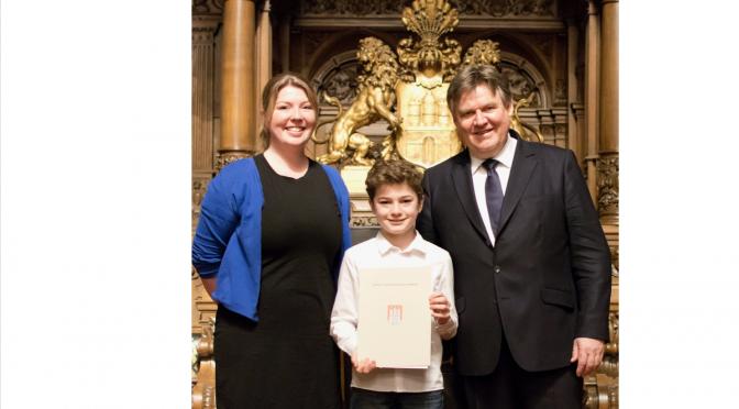 Ehrung Hamburger Preisträger in Schülerwettbewerben – StS Oldenfelde ist dabei!